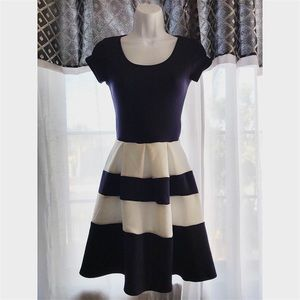 Charlotte Russe Navy Blue & White Dress